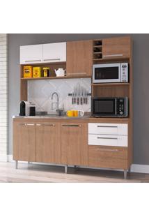 Cozinha Compacta Blume 8 Pt 2 Gv Nogueira E Branca