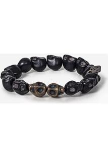 Pulseira Black Skull 0319-Único
