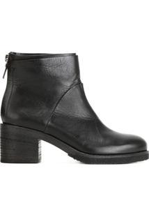 Del Carlo Zip Ankle Boots - Preto
