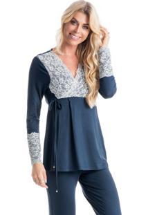 Pijama Lucy Transpassado Marine/P