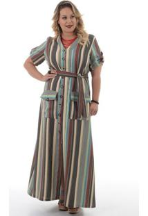 04cf62b93f9b Vestido Listrado Plus Size feminino | Starving
