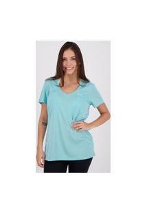 Camiseta Under Armour Neck Twist Feminina Azul