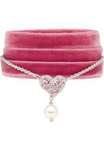 d353fb5ee94ba R  1490,00. Farfetch Pulseira Rosa Feminina Kj Fashion Heart - Bracelet  Charm Miu Ribbon