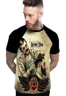 Camiseta Stompy Raglan Modelo 95 Masculina - Masculino-Preto