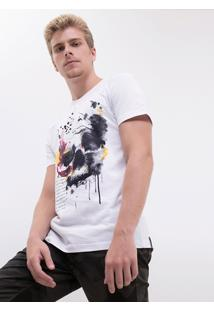 Camiseta Caveira Aquarela