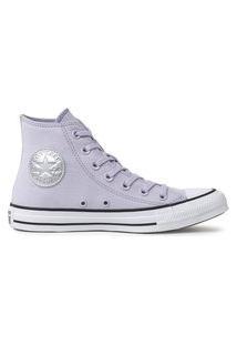 Tênis Converse Chuck Taylor All Star Hi Lilas/Prata