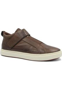 Sapatênis Zariff Shoes Em Couro - Masculino-Marrom