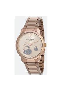 Kit Relógio Feminino Mondaine 53627Lpmvre2Ka Analógico 5Atm + Pulseira | Mondaine | Rosa | U