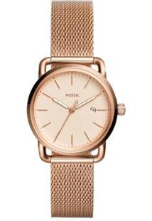 Relógio Fossil Fossil Feminino - Feminino-Rose Gold