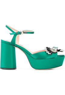 Rochas Sandália Com Aplicação - Verde
