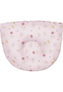 Travesseiro Anatã´Mico Floral- Rosa Claro & Rosa- 25Xpapi