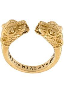 Nialaya Jewelry Anel Com Banho De Ouro 18K - Amarelo