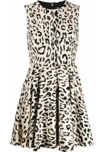 Dolce & Gabbana Vestido Com Animal Print - Marrom