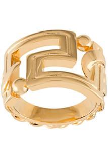 Versace Anel Gv Greca - Dourado