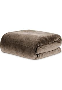 Cobertor Queen Kacyumara Blanket Microfibra Marrom Escuro