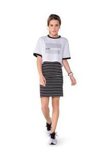Camiseta Olympikus Oversized Print Feminina