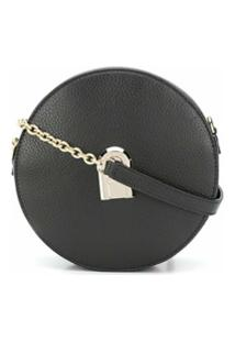 Furla Sleek Round Cross Body Bag - Preto