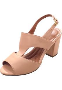 Sandália Mais Sapato Solto Grosso Bege