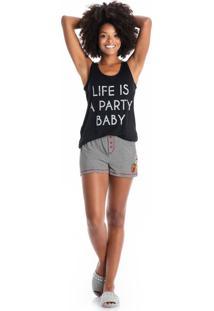 Short Doll Life Preto/P