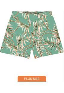 Shorts Feminino Plus Size Verde