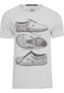 T-Shirt Masculina Especial Silk Tênis - Off White