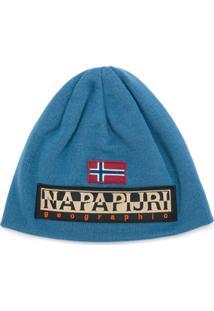 Napapijri Gorro Com Logo - Azul