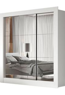 Guarda-Roupa Casal Luiza Com 3 Espelhos 3 Pt Branco