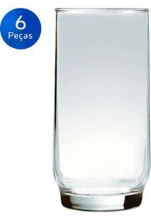 Conjunto De Copos Lights Long Drink 410Ml 6 Peças - Nadir - Transparente