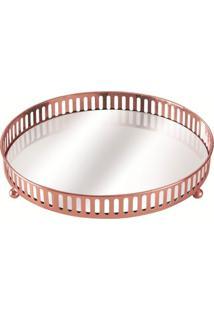 Bandeja Mart De Metal Com Espelho Cobre Cirkel 7180