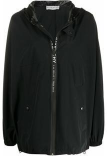 Givenchy Jaqueta Oversized Com Logo - Preto