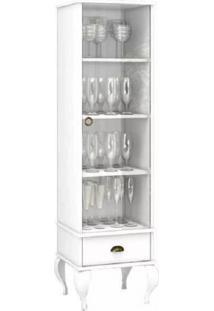 Cristaleira Provençal 1 Porta De Vidro 1 Gaveta Móvel Bento