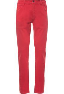 Calça Masculina Fit Color - Vermelho
