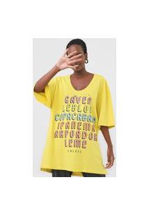 Camiseta Colcci Oversized Lettering Verde
