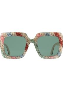 Gucci Eyewear Square-Frame Glitter Acetate Sunglasses - Branco 749dc41952