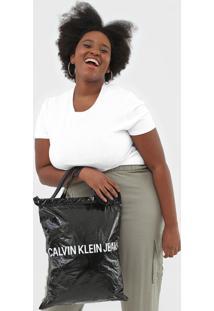Bolsa Calvin Klein Market Tote Preta