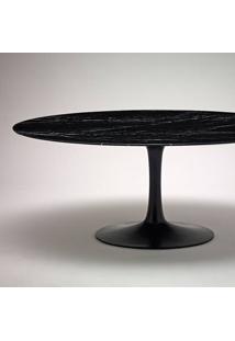 Mesa De Jantar Tulip Oval Estrutura Alumínio Fundido Tampo Laminado Artesian Design By Eero Saarinen