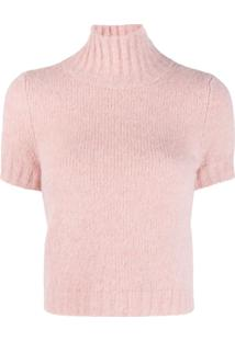 Red Valentino Suéter Cropped - Rosa