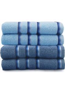Kit Toalha De Banho 4 Peã§As Classic - Toalhas Appel - Azul Infinity/Alaska - Azul - Dafiti