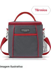 Bolsa Térmica 15X19Cm Jacki Design Vermelha E Cinza