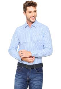 Camisa Broken Rules Xadrez Azul/Branca