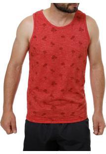 Camiseta Regata Masculina Vermelho
