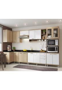 Cozinha Completa Laciara 15 Pt 3 Gv Argila E Branco
