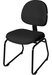 Cadeira Executiva Base Trapã©Zio S/ Braã§O Preta - Preto - Dafiti