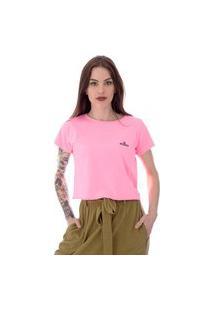 Camiseta Cropped Operarock Stone Rosa