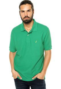 Camisa Polo Nautica Logo Verde