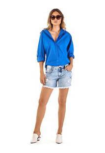 Bermuda Comfort Bordada Jeans