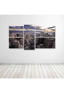 Quadro Decorativo - New York Sky - Composto De 5 Quadros