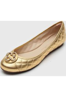 Sapatilha Capodarte Matelassê Dourada