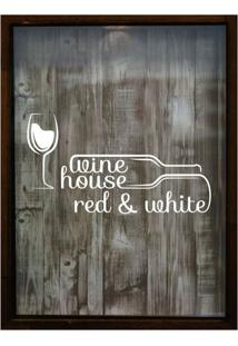 Quadro Porta Rolhas 32X42X4Cm Wine House Betume I