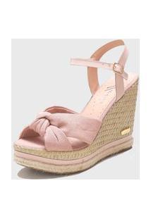 Sandália Sb Shoes Anabela Ref.3250 Nude